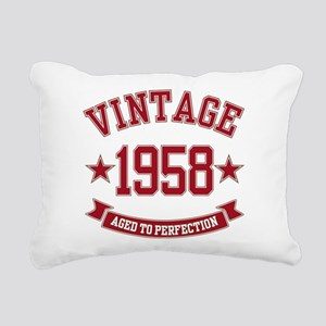 1958 Vintage Aged to Perfection Rectangular Canvas