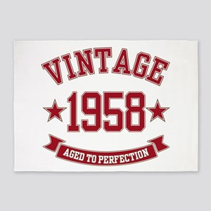 1958 Vintage Aged to Perfection 5'x7'Area Rug
