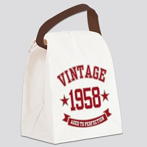 1958 Vintage Aged to Perfection Canvas Lunch Bag