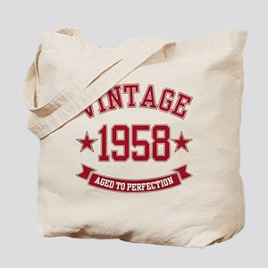 1958 Vintage Aged to Perfection Tote Bag