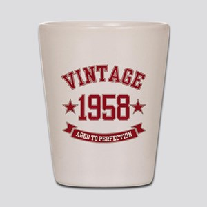 1958 Vintage Aged to Perfection Shot Glass