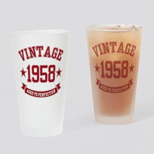 1958 Vintage Aged to Perfection Drinking Glass