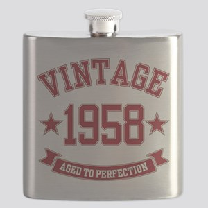 1958 Vintage Aged to Perfection Flask