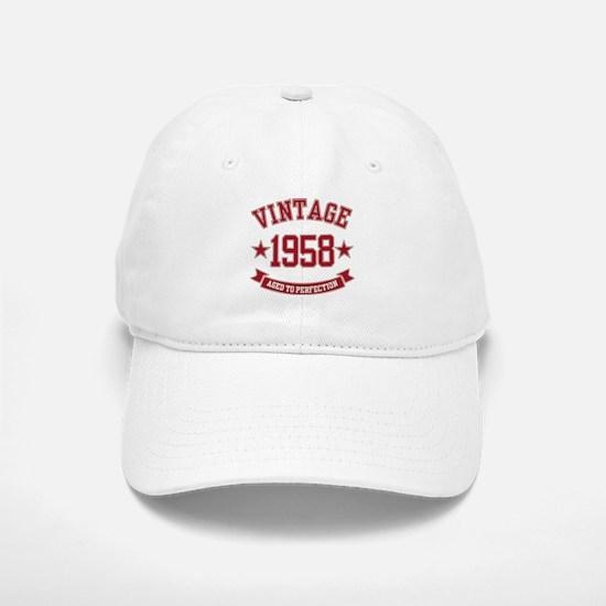 1958 Vintage Aged to Perfection Baseball Baseball Cap