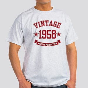 1958 Vintage Aged to Perfection Light T-Shirt