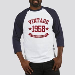 1958 Vintage Aged to Perfection Baseball Jersey