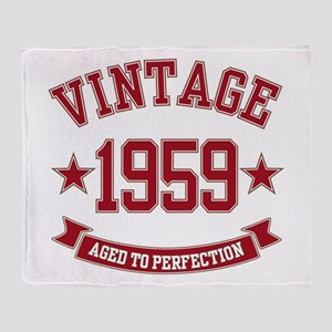 1959 Vintage Aged to Perfection Throw Blanket