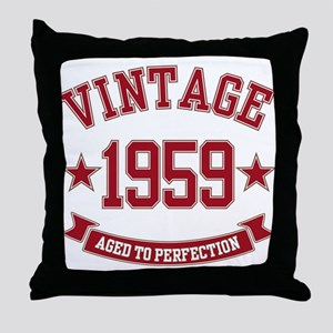 1959 Vintage Aged to Perfection Throw Pillow