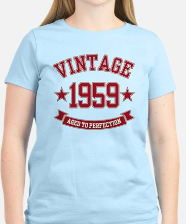1959 Vintage Aged to Perfection Women's Light T-Sh