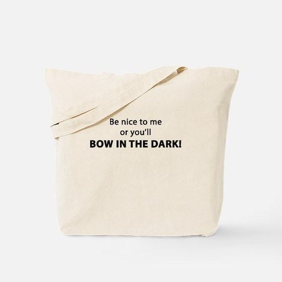 Bow In The Dark Tote Bag