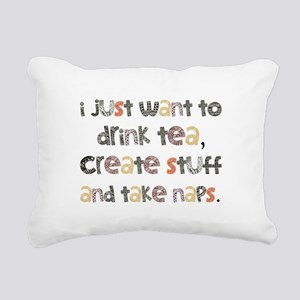 Drink Tea, Create, Take Naps Rectangular Canvas Pi