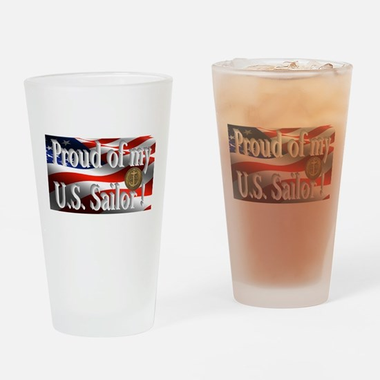 Proud of my U.S. Sailor Drinking Glass