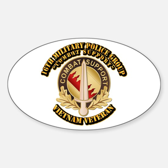 16th Military Police Group Sticker (Oval)