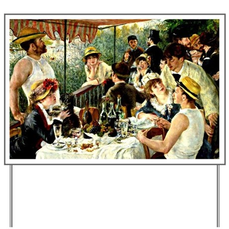 Renoir: The Luncheon of the Boating Part Yard Sign