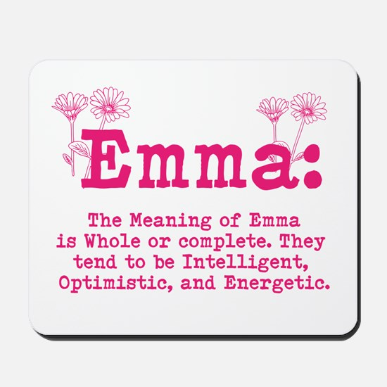 Emma Personalized Name Mousepad