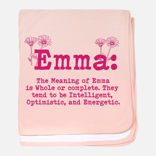 Emma Personalized Name baby blanket