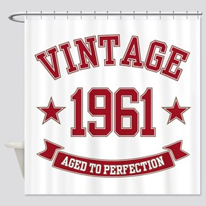 1961 Vintage Aged To Perfection Shower Curtain