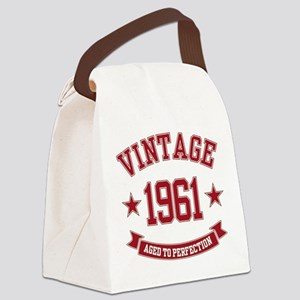 1961 Vintage Aged To Perfection Canvas Lunch Bag