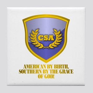Southern By The Grace Of God Tile Coaster