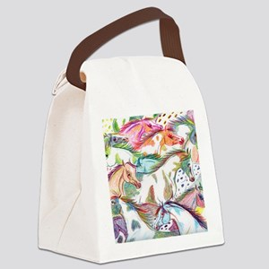 horses of color Canvas Lunch Bag