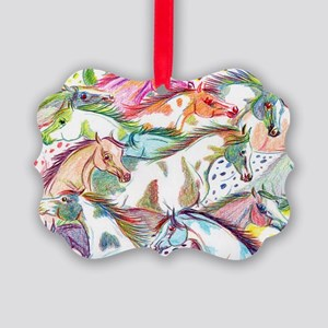 horses of color Picture Ornament