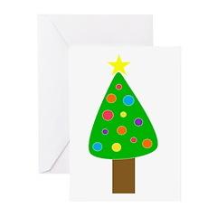 Merry Christmas Tree Greeting Cards (Pk of 10)