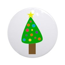 Merry Christmas Tree Ornament (Round)