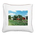 Wayside Farm Square Canvas Pillow