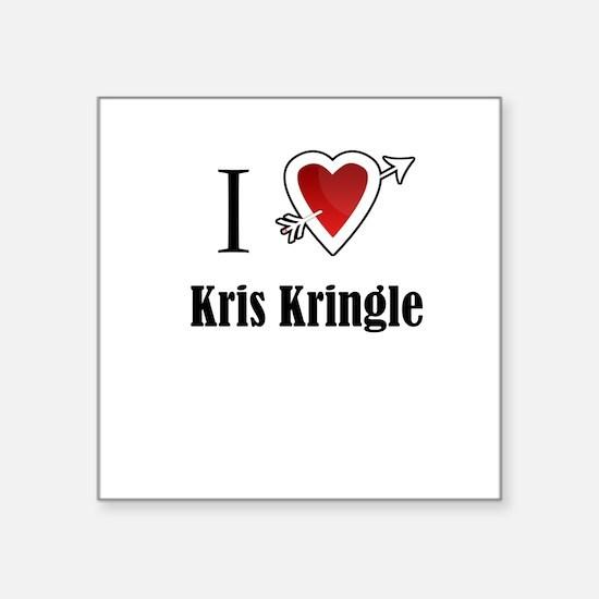 i love Kris Kringle Christmas x-mas Sticker