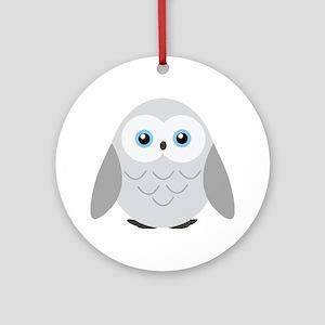 Sweet Snowy Owl Ornament (Round)