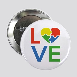 "Autism Love 2.25"" Button"