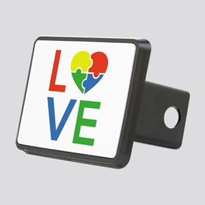 Autism Love Rectangular Hitch Cover