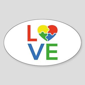 Autism Love Sticker (Oval)
