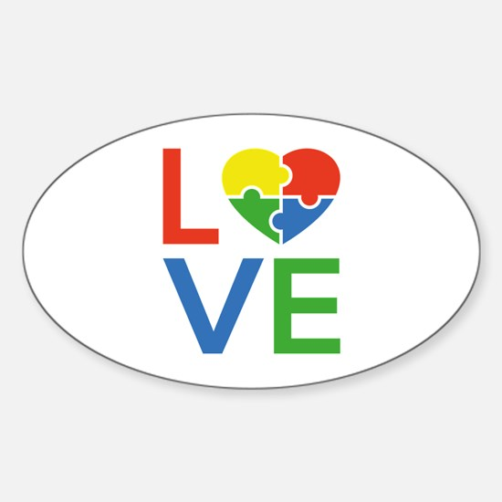 Autism Love Sticker (Oval)