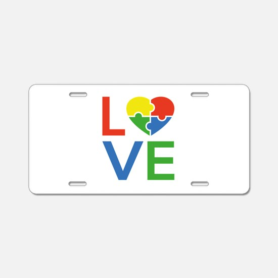 Autism Love Aluminum License Plate