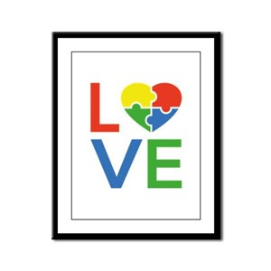 Autism Love Framed Panel Print