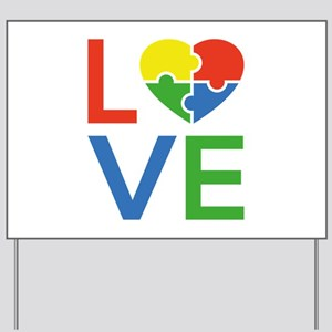 Autism Love Yard Sign