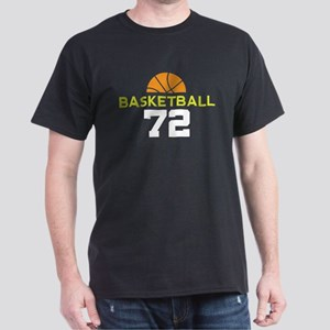 Custom Basketball Player 72 Dark T-Shirt