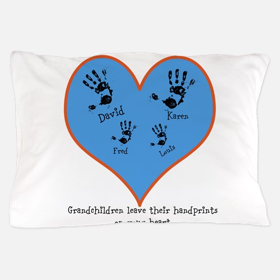 Personalized handprints 4 grandkids Pillow Case