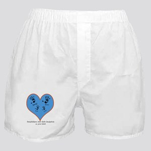 Personalized handprints 4 grandkids Boxer Shorts