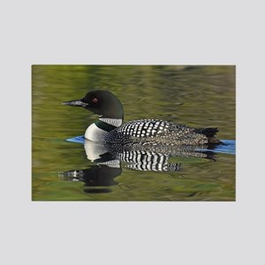 Loon reflection Rectangle Magnet