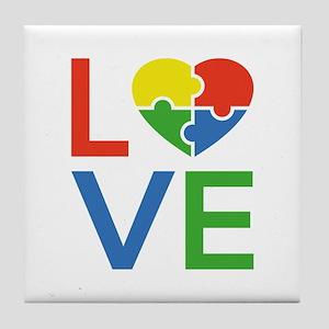 Autism Love Tile Coaster