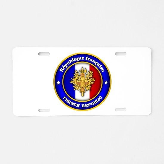 French Medallion Aluminum License Plate