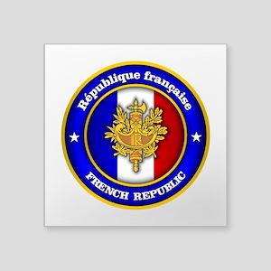French Medallion Sticker