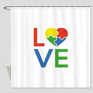 Autism Love Shower Curtain