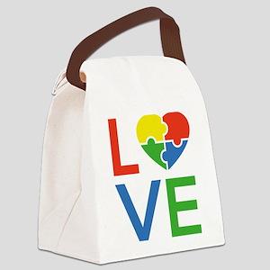 Autism Love Canvas Lunch Bag