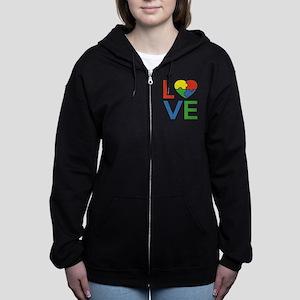 Autism Love Zip Hoodie