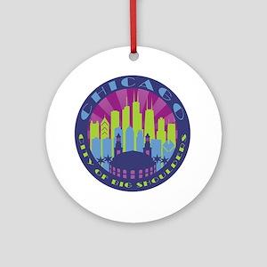 Chicago round cool Ornament (Round)
