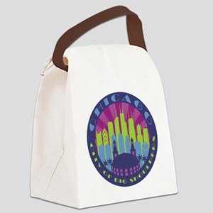 Chicago round cool Canvas Lunch Bag