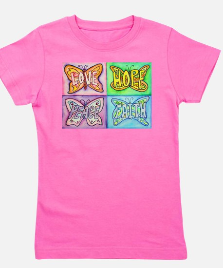 Inspirational Butterfly Word Wings Girl's Tee